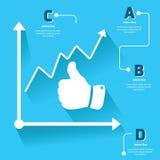 Information-graphique de main illustration stock