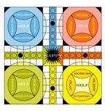 Information-graphique de panneau de jeu de vintage illustration libre de droits