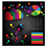 Information-graphiques Image stock