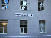 Information help desk area office sign Royalty Free Stock Photography