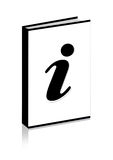 Information icon. On the book at white background Royalty Free Stock Photos
