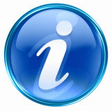 Information icon blue Stock Image
