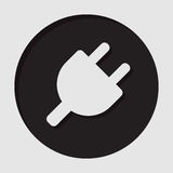 Information icon - electrical plug symbol Stock Photography