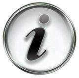 Information icon grey Stock Photos