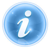Information icon ice Royalty Free Stock Images