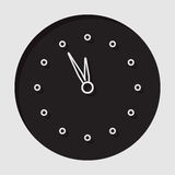 Information icon - last minute clock. Information icon - dark circle with white last minute clock and shadow royalty free illustration