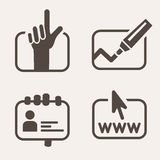 Information icon set. Royalty Free Stock Photography