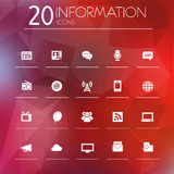 Information icons on blurred background Royalty Free Stock Image
