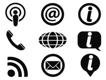Information icons set Royalty Free Stock Photography