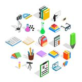 Information icons set, isometric style. Information icons set. Isometric set of 25 information vector icons for web isolated on white background Royalty Free Stock Images