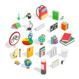 Information icons set, isometric style. Information icons set. Isometric set of 25 information vector icons for web isolated on white background Stock Image