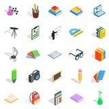 Information icons set, isometric style Stock Image