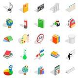 Information icons set, isometric style Stock Photo