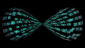 Information infinity stock video