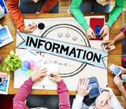Information Info Data Facts Source Concept Stock Photo