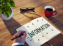 Information Info Media Research Sharing Concept Stock Images