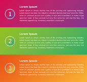 Information infographic vector presentation. For business Stock Image