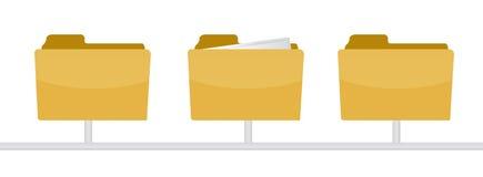 Information inside a folder illustration design Royalty Free Stock Images