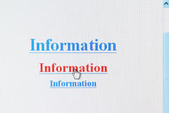 Information Internet Link Stock Photos