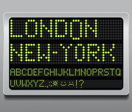 Information led board Royalty Free Stock Photography