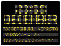 Information led timeboard. Digits and letters set Stock Images