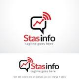 Information Logo Template Design Vector, emblem, designbegrepp, idérikt symbol, symbol om statistik Arkivbilder