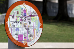 Information Map - Nashville Tennessee (downtown) Stock Image