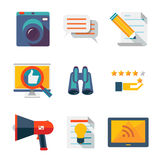 Information and media web icons Royalty Free Stock Image