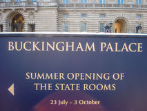 Information mural near Buckingham Palace and Victoria Memorial Royalty Free Stock Image