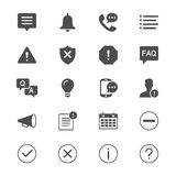 Information and notification flat icons Stock Photos