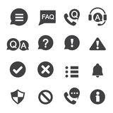 Information and notification icon Stock Images