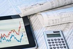 Information om börs Arkivfoton