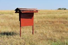 information om bräde som isoleras över white Pekare i savannah Arkivbilder