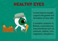 Information om fördelarna av moroten för synförmåga Arkivbild
