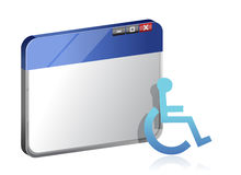 Information om handikapp på rengöringsduken Royaltyfri Bild