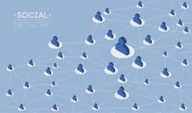 Information om kommunikation för folk för socialt nätverksmassmedia som global delar den isometriska infographicsvektorn för plan Royaltyfria Foton