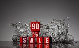 Information om rabatten till 90% Arkivfoton