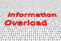 Information overload. In the form of binary code, 3D illustration Royalty Free Stock Photos