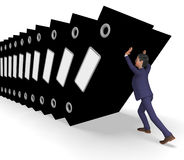 Information Overload Represents Commerce Businessman And Biz Royalty Free Stock Image