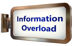 Information Overload on billboard background. Information Overload wall light box billboard background , isolated on white Royalty Free Stock Photos