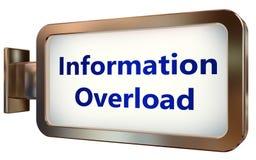 Information Overload on billboard background stock illustration