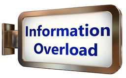 Information Overload on billboard background. Information Overload wall light box billboard background , isolated on white Royalty Free Stock Photography