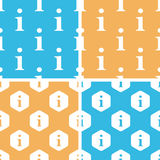 Information pattern set, colored Royalty Free Stock Photo