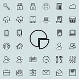 Information pie icon. Detailed set of minimalistic icons. Premium graphic design. One of the collection icons for websites, web de. Sign, mobile app on colored Royalty Free Stock Photo