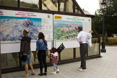Information point from Sinaia sky resort Stock Images