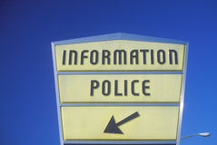 Information Police  sign Stock Image