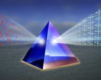 Information prism Royalty Free Stock Photo