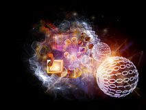 Information processing cloud Royalty Free Stock Image