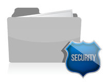 Information protection by a shield illustration Royalty Free Stock Images