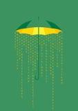 Information rain. Royalty Free Stock Photography